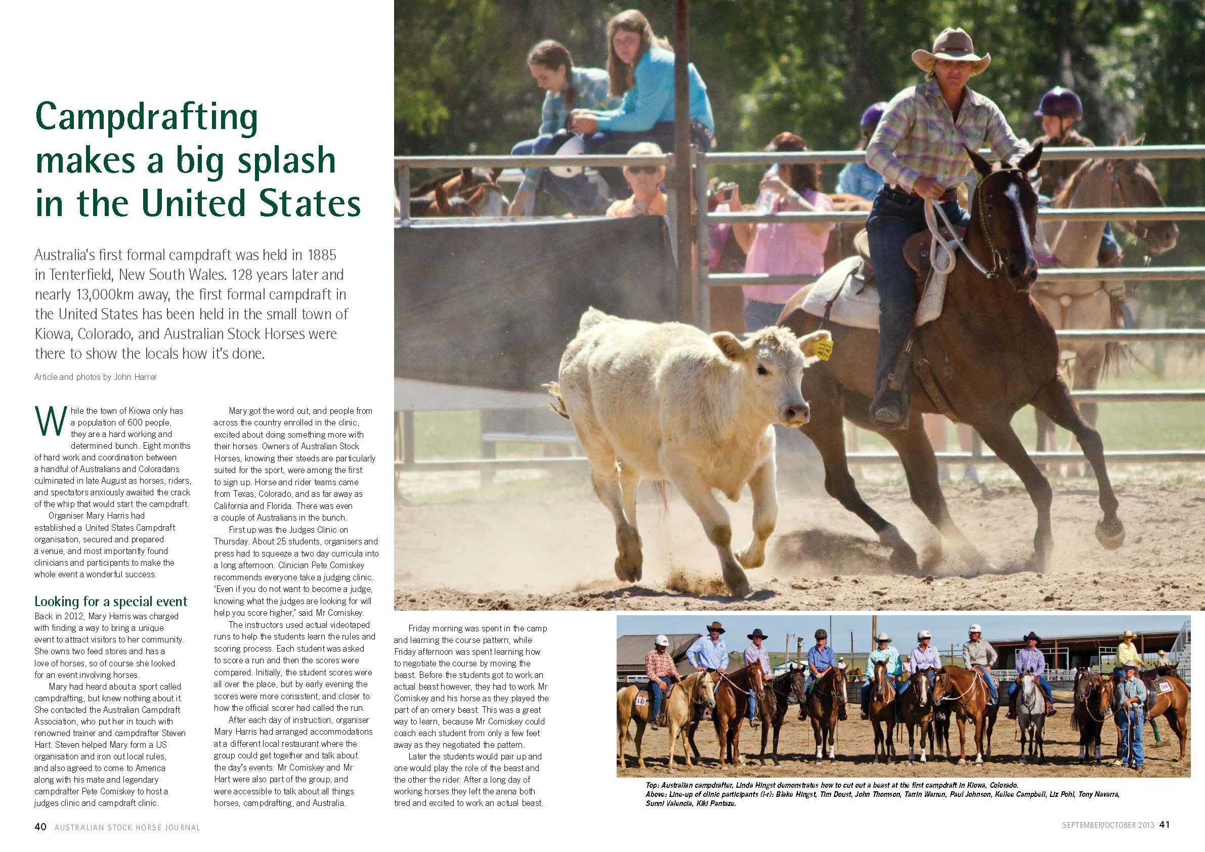 Australian Stock Horse Journal Pages 40-41