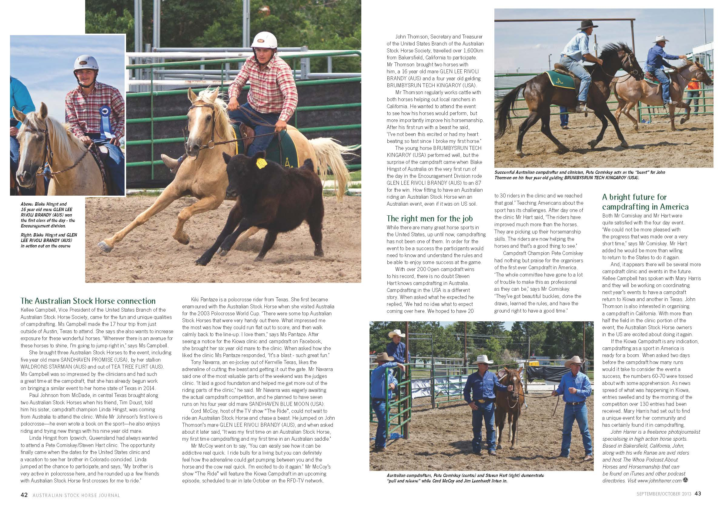 Australian Stock Horse Journal Pages 42-43